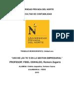 """""""USO DE LAS TIC´S EN LA GESTION EMPRESARIAL"""""""