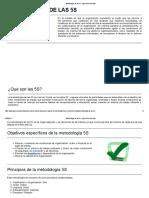 Metodología de Las 5s - Ingeniería Industrial