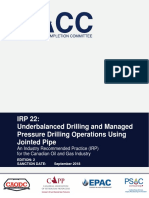 IRP 22 - Underbalanced Drilling & Managed Pressure Drilling Operations Using Jointed Pipe - Oct 17- 2018 (1).pdf