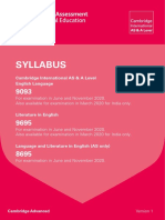 Syllabus for 2020 a Level
