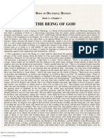 1. Of the Being of God.