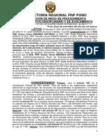Auto de Inicio de Procedimiento Administrativo Disiciplinario