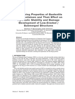 Engineering Properties of Geotextile Sand Containers and Their Effect on Hydraulic Stability and Damage Development of Low Crested Submerged Structures