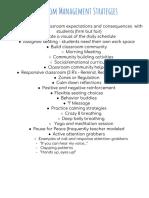 copy of classroom management strategies