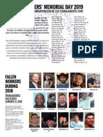 Houston Worker Memorial Week 2019 Display