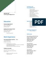summer gaines - resume
