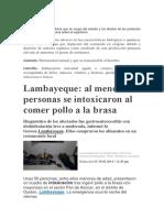 Caso de Intoxicación (Lambayeque)