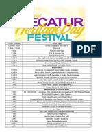 1st Annual Decatur Heritage Festival Agenda 04082019