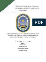 Aspectos Históricos de Las Normas Jurídicas en Materia Del Derecho Ambiental en América Latina