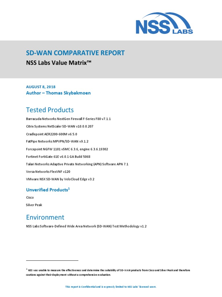 Nss Labs Sd Wan Comparative Report Voice Over Ip Codec