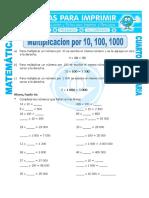 Ficha Multiplicar Por 10 Para Cuarto de Primaria