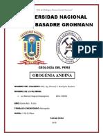 Avanze Del Informe Geologia Del Peru