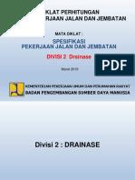 Spesifikasi Devisi 2 Drainase Update