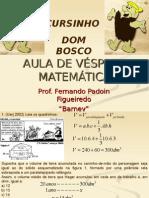 Matemática PPT - Aula de Véspera