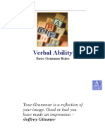 Verbal - Basic Grammar Rules