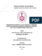 TRANSPORTE EN MINAS A CIELO ABIERTO-CAMIONES VERSUS SISTEMA DE CHANCADO SEMI-MOVIL DENTRO DEL TAJO TRANSPORTADO POR FAJAS_WILLIAM TOLEDO.pdf