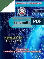 MRIT ECE-April2019 Newsletter