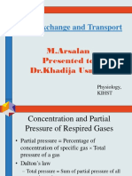 Gas Exchange and Transport by M.arsalan