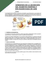 Tema 1. Desórdenes en La Secreción de ADH. Diabetes Insípida y SIADH.