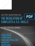 air test - resolution of conflicts slides  student