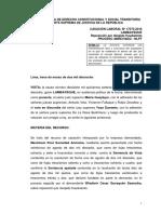 Cas.-Lab.-17576-2016-Lambayeque - Procede reposición si trabajador prueba que fue intimidado para renunciar.pdf
