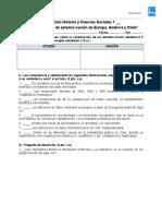 2° Evaluación Historia y Ciencias Sociales 1º Medios - La construcción de estados nación en Europa, América y Chile