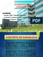 DURACION DEL CONCRETO