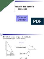 Matemática PPT - Lei dos Senos e Cosenos