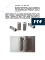 Advances Filters in Pharma Ind