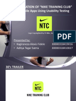 Usability Testing of Nike Training Club Apps