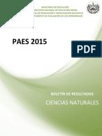 Boletín Paes 2015 Ciencias Naturales
