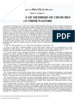 4. of the Duties of Members to Their Pastors.