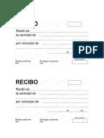 Formatos de Recibos