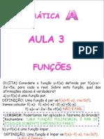 Matemática PPT - Aula 03 - Funções II