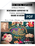 SAN PEDRO EN EL ESPINAL. Bambuco festivo. Milciades Garavito W. Transc. para piano Gerardo Betancourt.