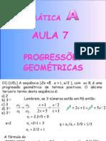 Matemática PPT - Aula 07 - Sequências PG