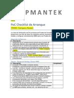 Checklist PoC