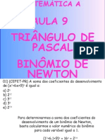 Matemática PPT - Aula 09 - Triângulo de Pascal