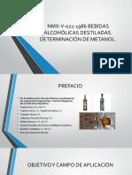 Bebidas Alcohólicas Destiladas Cromatografia Gases