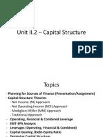 Unit II.2 Capital Structure Main