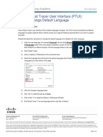How to Change Default Language for Packet Tracer
