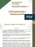 Categorización y Triangulación_investigación Social
