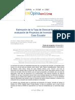 Estimación de La Tasa de Descuento Para Proyectos Financieros Ecuador
