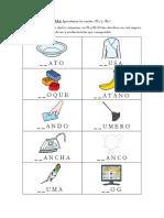 Asociacion fonema-grafema de difonos consonanticos PL y BL