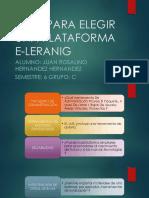 Guía Para Elegir Una Plataforma E-learnig