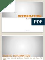 Deformation Physics Ordinary Level