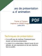 Techniques de Présentation & d'Animation