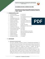 Informe Final de Liquidacion Del Contrato de Obra