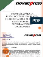 Plantas Seleccionadoras - Novaepress 2012