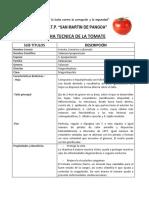 Ficha Tecnica Del Tomate